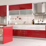 красная кухня под заказ