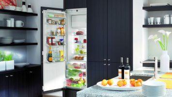 встроенный в шкаф холодильник