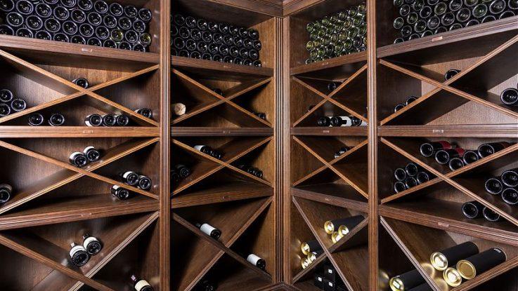 стеллаж вино