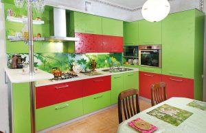 красно зеленая кухня