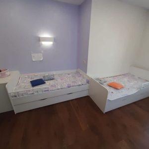 кровать на заказ детская белая