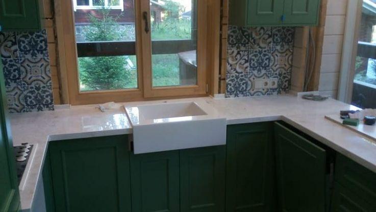 кухня кантри зеленая