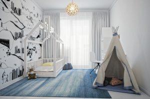 кровать домик белая