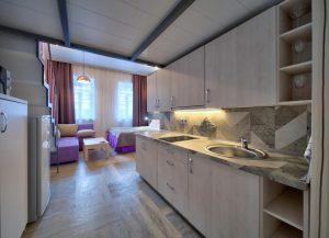 кухонный гарнитур в апартаментах