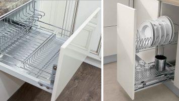 шкафы для хранения посуды с поддоном