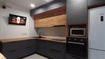 угловая кухня лофт