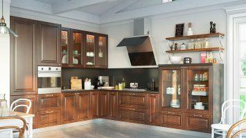 класссическая угловая кухня