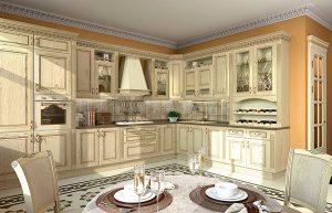 кремовая белая кухня классика