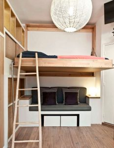 откидная подвесная кроватьь