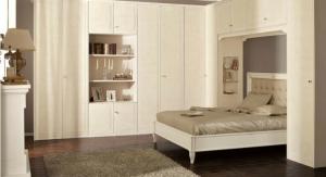 угловой шкаф в спальне белый