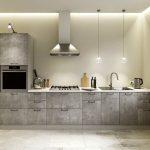 кухня лофт под бетон